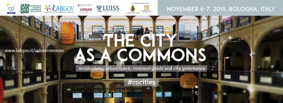 כנס The City as a Commons בבולוניה